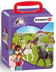 Klein blaszany kuferek Schleich - konie