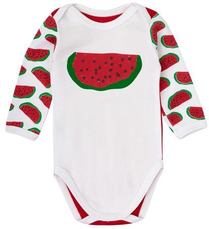 Garnamama Dětské body s melounem 62 červená