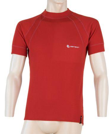 Sensor Double Face férfi  rövid ujjú póló sötétpiros L