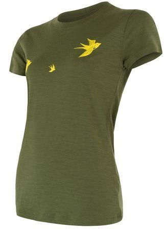 Sensor ženska majica s kratkimi rokavi Safari Merino Active Pt Track Swallow, L