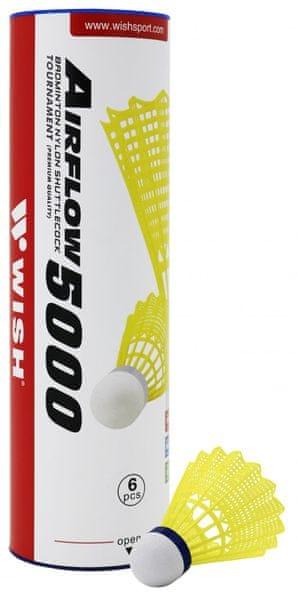 WISH Plastové míče Air Flow 5000 žluté (6 ks)