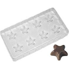Ibili Plastové formičky na čokoládu hvězda