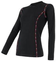 Sensor ženska majica z dolgimi rokavi Merino Air, L, črna