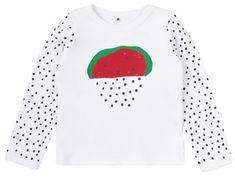 Garnamama koszulka dziecięca z arbuzem i pestkami