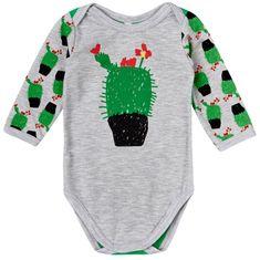 Garnamama Dětské body s kvetoucím kaktusem