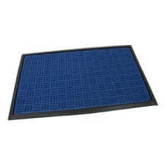 FLOMAT Modrá textilní vstupní rohož Criss Cross - 45 x 75 x 1 cm
