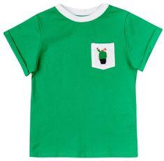 Garnamama koszulka dziecięca z kieszonką z kaktusem