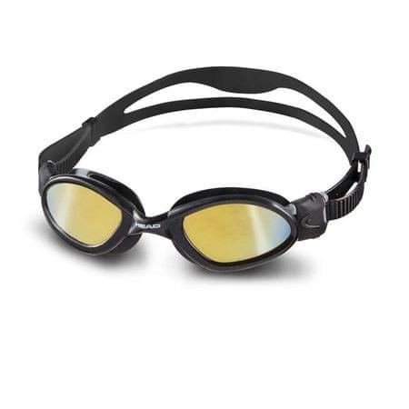 Head Okuliare plavecké SUPERFLEX MID zrkadlové, čierna