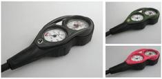 APEKS Konzola APEKS manometer 360 Bar/hĺbkomer 70M, ružová/ flexi hadica