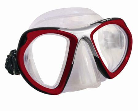 SOPRASSUB Maska LUCIDA transparentná, červená