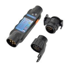 CarPoint Tester zásuvky přívěsů tažného LED 3v1 s adaptérem na 7 a 13 pólů