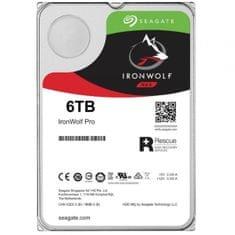 "Seagate NAS trdi disk IronWolf Pro 6 TB, 8.89 cm (3.5""), SATA, 6 Gb/s, 7200 obratov"