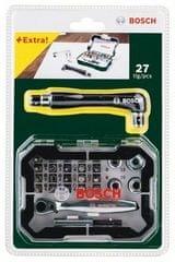 Bosch 26 – elementowy zestaw z kluczem francuskim + dwustronnym śrubokrętem