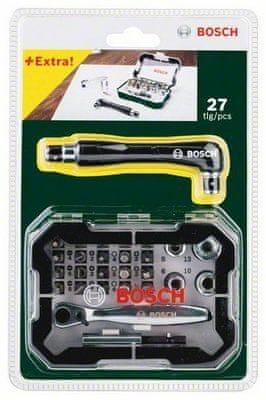 Bosch 26dílná sada s ráčnou + oboustranný šroubovák navíc