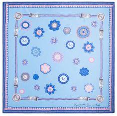 VERSACE 19.69 dámský světle modrý šátek Hippy 69