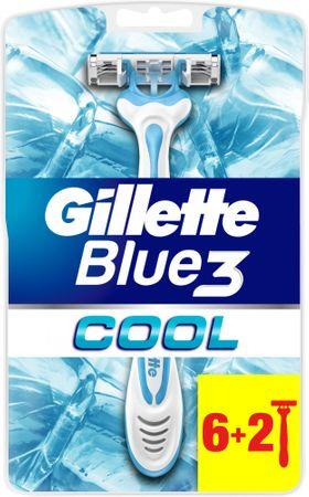 Gillette maszynka Blue 3, 6+2 szt