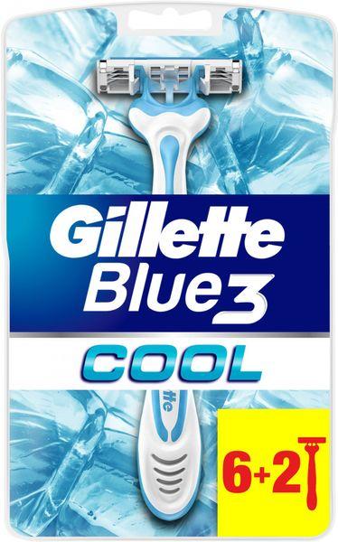 Gillette Blue3 Sensitive pánský jednorázový holicí strojek 6+2 ks