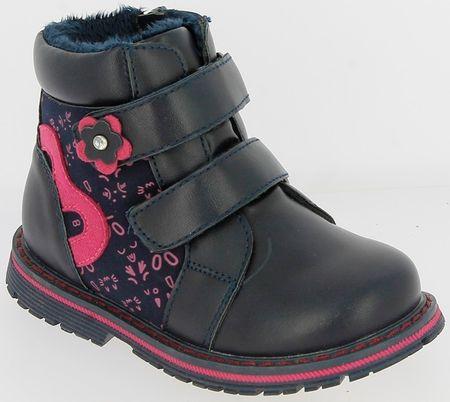 V+J buty zimowe za kostkę dziewczęce 21 niebieski