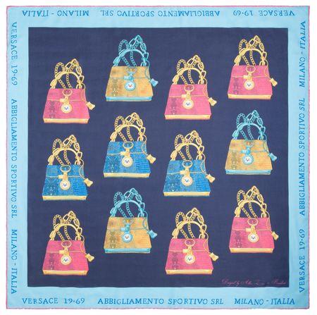 VERSACE 19.69 dámský modrý šátek It Bag