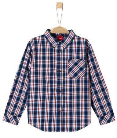 s.Oliver Chlapecká košile kostkovaná 116 - 122 červená/modrá