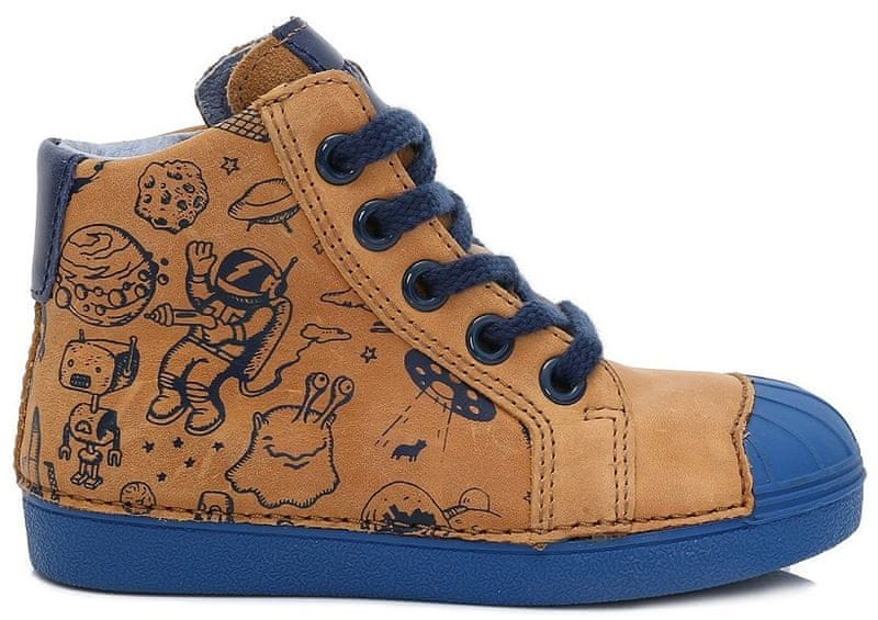 D-D-step chlapecké kotníkové boty 28 hnědá 23a0bb5428