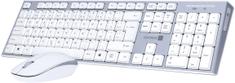Connect IT Combo bezdrôtová biela klávesnica + myš (CKM-7510-CS)
