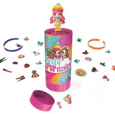 Spin Master Pog party cső konfettivel és babával
