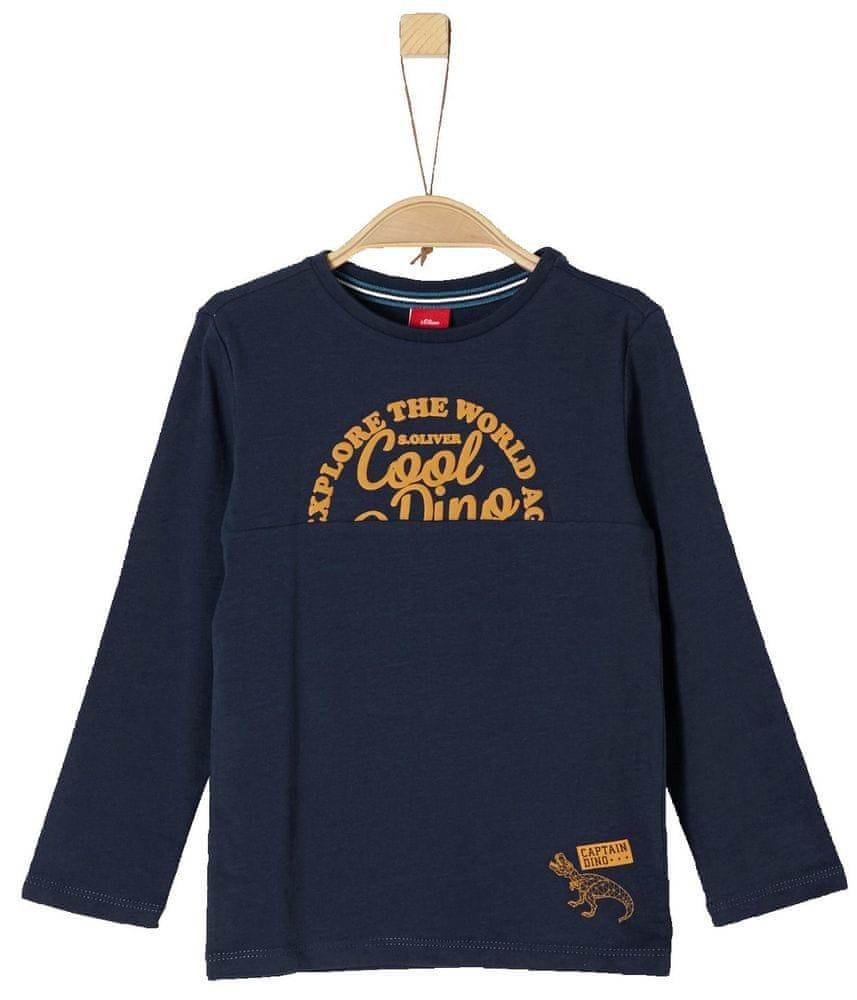 5d870eb9e83 s.Oliver Chlapecké tričko Captain Dino 116 - 122 tmavě modrá