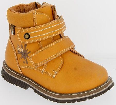 V+J buty zimowe za kostkę chłopięce 23 ochra