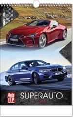 Kalendář nástěnný A3 Superauto