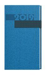 Diář denní Filip vigo kapesní modrý, modrá gumička