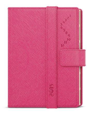 Diář denní Ctirad s výsekem krémový papír Manager color A5 růžový