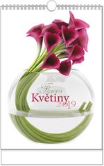 Kalendář nástěnný A3 Květiny