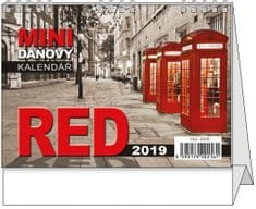 Kalendář stolní pracovní Red mini daňový