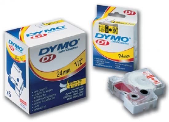 PLUS Páska DYMO D1 12mm/7m červená na čiré