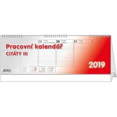 Kalendář stolní pracovní Citáty III.