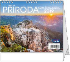 Kalendář stolní Ideál Příroda, hory, řeky, jezera