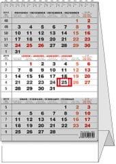 Kalendář stolní pracovní Mini tříměsíční