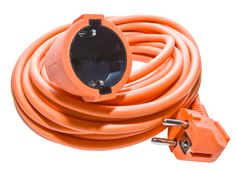 Klan podaljšek, 20 m, 1 vtičnica, oranžen