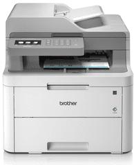 Brother brezžična barvna laserska večfunkcijska naprava 3 v 1 DCP-L3550CDW