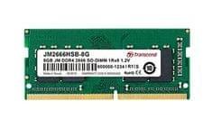 Transcend pomnilnik (RAM) JetRam 8 GB, DDR4, PC2666, CL19, 1,2 V, SO-DIMM