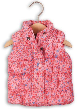 Minoti Virágcsokor mintás meleg mellény lányoknak 68 - 80 rózsaszín