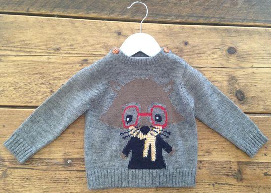 Minoti pulover za dječake s motivom mačke
