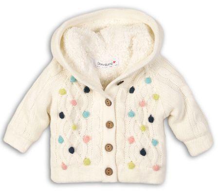 Minoti Dívčí svetr s barevnými puntíky II. 80 - 86 béžová