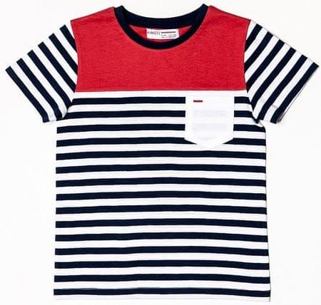 Minoti Chlapčenské tričko pruhované 68 - 80 modrá