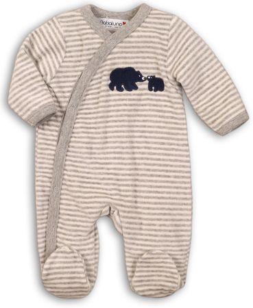 Minoti Detský overal pruhovaný s medvedíkmi  56 - 62 modrá