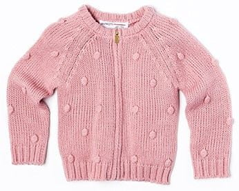 Minoti Dievčenský sveter brmbolce 68 - 80 ružová