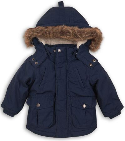 Minoti Chlapčenský kabát parka 68 - 80 modrá