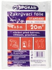 SPOKAR Zakrývací fólie 4×5 m, HDPE 7 MY