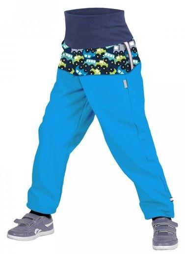 Unuo Chlapčenské softshellové nohavice s fleecom Autíčka